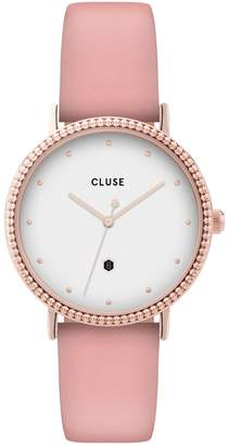 Cluse Le Couronnement Stainless Steel Leather-Strap Watch