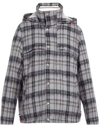 Thom Browne - Tartan Wool And Mohair Blend Coat - Mens - Multi