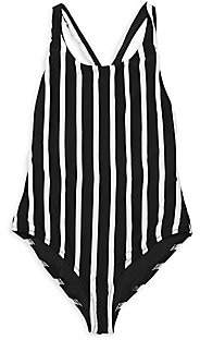 Milly Girl's Scoopback Stripe One-Piece Swimsuit