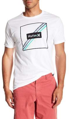 Hurley Steps Logo Graphic Crew Neck Tee