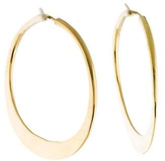 Le Vin Ed Levin 18K Hand Hammered Hoop Earrings