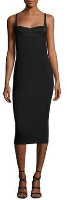 Narciso Rodriguez Sleeveless Bustier Sheath Dress, Black