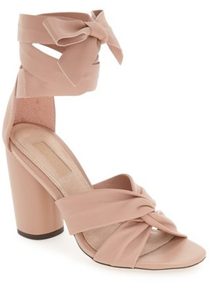 Topshop 'Rosetta' Soft Knot Wraparound Sandal $100 thestylecure.com