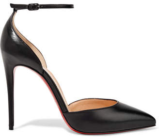 Christian Louboutin Uptown 100 Leather Pumps - Black