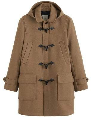MANGO Detachable hood duffle coat