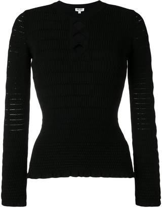 Kenzo geometric knit top