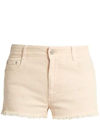 Stella McCartney Frayed-hem stretch-denim shorts