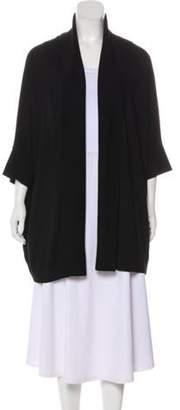 Ralph Lauren Wool Open Front Cardigan Black Wool Open Front Cardigan