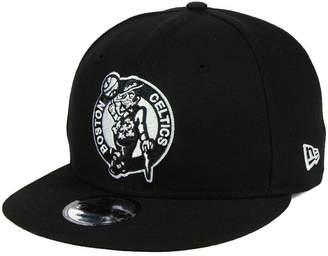 New Era Boston Celtics Basic Black & White 9FIFTY Snapback Cap