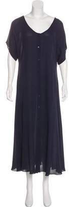 Calvin Klein Collection Silk Maxi Dress