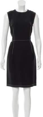 Lanvin Crepe Knee-Length Dress Black Crepe Knee-Length Dress
