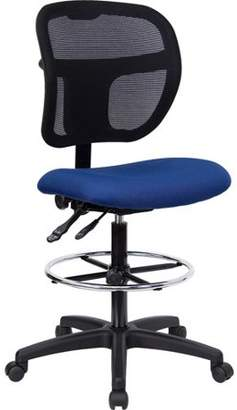 Delacora Fabric and Mesh Drafting Stool, Multiple Colors