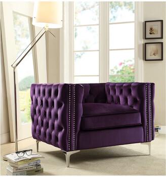 Chic Home Da Vinci Velvet Y-Leg Club Chair