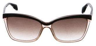 Alexander McQueen Two-Tone Cat-Eye Sunglasses