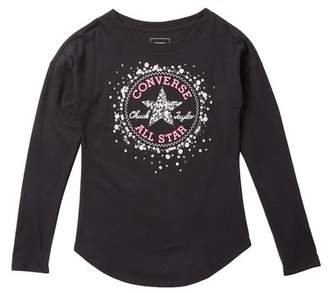 Converse Sequin Chuck Patch Tee (Big Girls)