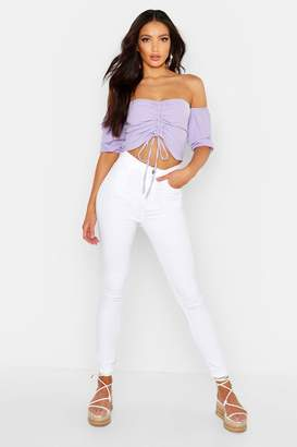 boohoo High Waisted Skinny Jean