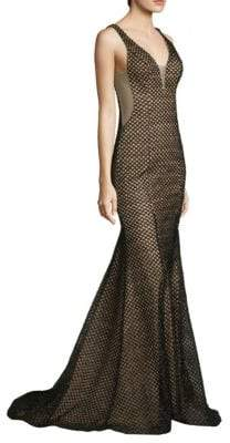 Basix II Black Label V-Neck Fitted Gown