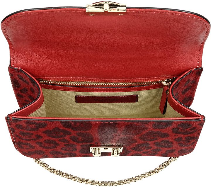 RED Valentino Valentino Red Calfhair Animal Print Shoulder Bag