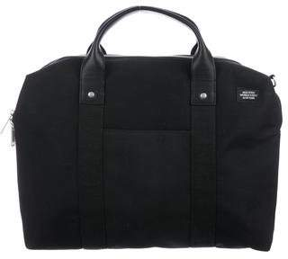 Jack Spade Leather-Trimmed Travel Satchel