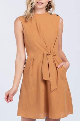 Everly Linen-Tie Detail Dress