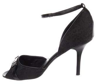 Christian Dior Peep-Toe Ankle Strap Pumps