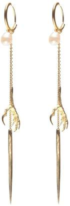 Wouters & Hendrix Gold 18kt yellow gold 'Spikes, Pearls and Claws' earrings