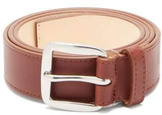 Paul Smith Signature Stripe Cutaway Leather Belt - Mens - Brown