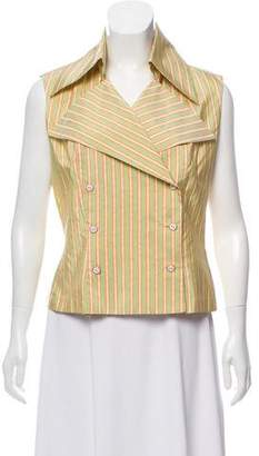 Chanel Stripe Sleeveless Top