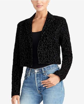Rachel Roy Cropped Leopard-Print Jacket