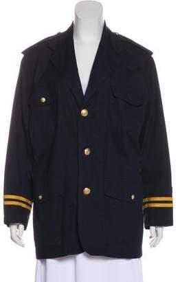 Ralph Lauren Notch-Lapel Short Coat