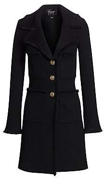 St. John Women's Pique Frayed Trim Coat