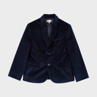 Boys' 2-6 Years Navy Velvet 'Magic' Blazer $290 thestylecure.com
