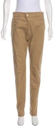 Julien David Mid-Rise Straight-Leg Pants