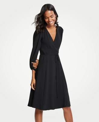 Ann Taylor Petite 3/4 Sleeve Wrap Dress