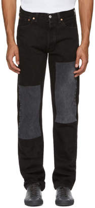 B Sides Black Two Patch Jeans