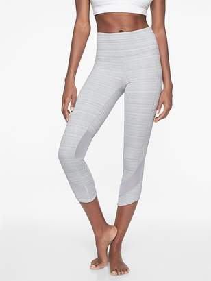Athleta High Rise Jacquard Mesh Chat to Town Capri