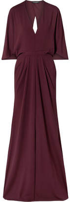 Narciso Rodriguez Stretch-crepe Gown - Burgundy