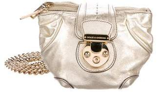 Dolce & Gabbana Metallic Chain-Link Crossbody Bag