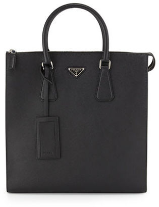 Prada Saffiano Leather Zip-Top Tote Bag $1,950 thestylecure.com