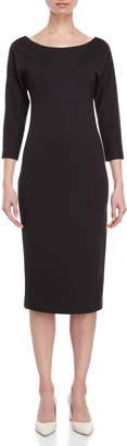 Liviana Conti Three-Quarter Sleeve Midi Sheath Dress