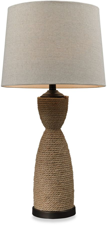 Bed Bath & Beyond Natural Rope Table Lamp in Dark Brown