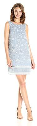Max Studio Women's Printed Pleated Dress