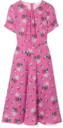 Altuzarra Tuesday Floral-print Silk Crepe De Chine Dress - Pink