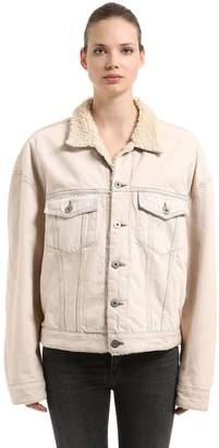 Yeezy Classic Faux Shearling & Denim Jacket