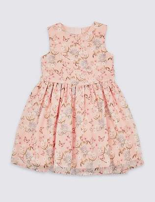 Marks and Spencer All Over Print Butterfly Dress (3 Months - 7 Years)