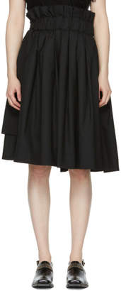 Noir Kei Ninomiya Black Tropical Wool Skirt