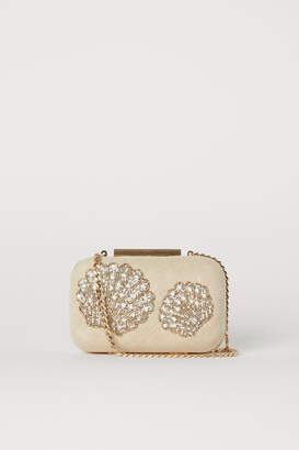 H&M Clutch with Beaded Embroidery - Beige