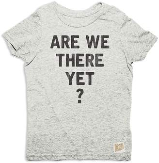 Original Retro Brand Boys' Are We There Yet Tee
