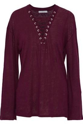 IRO Lace-Up Slub Linen Shirt
