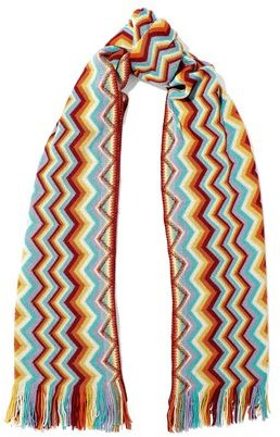 Missoni Fringe-trimmed Crochet-knit Wool-blend Scarf